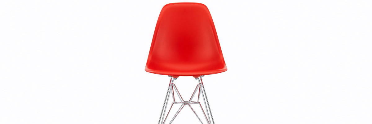 Vitra Eames Stuhl in der Trendfarbe Orange