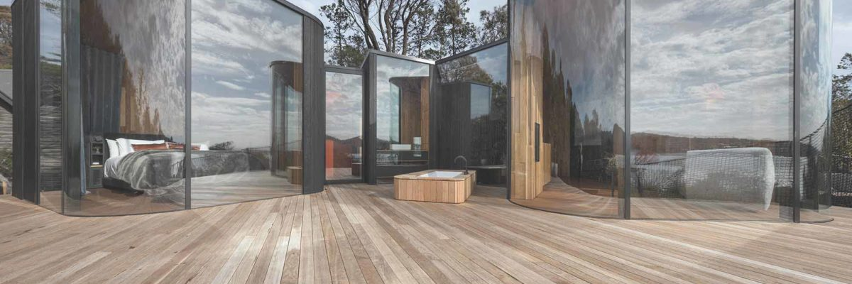 Die Freycinet Lodge Coastal Pavilions von Liminal Architecture beim World Architecture Festival 2018