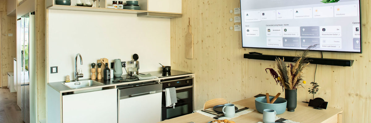 Das Connected Living House: Samsung macht smarte Technik erlebbar.